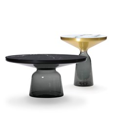 Bell Side Table Black Edition Marble Top